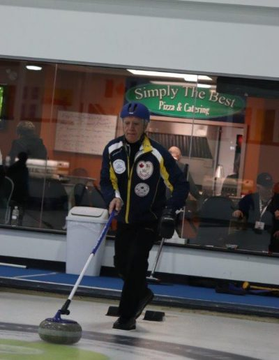 Milt at 2018 Stick Curling Nationals