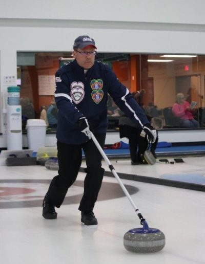 Paul at 2018 Stick Curling Nationals