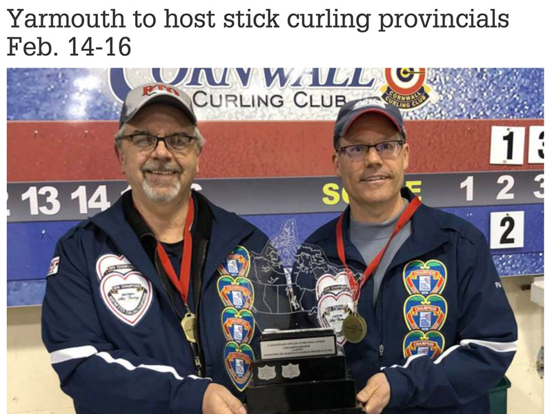 Yarmouth Stick Curling News