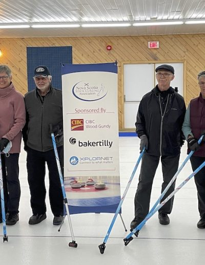 Participants with new sticks